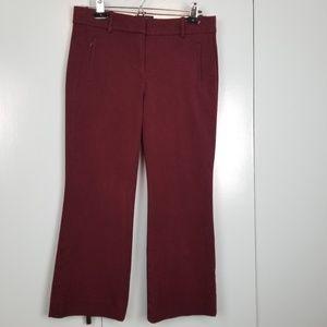 J.Crerw Teddie wine pants size 2 -C7